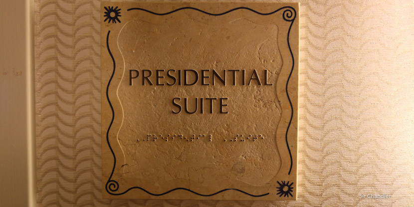 Una suite presidencial de Hilton