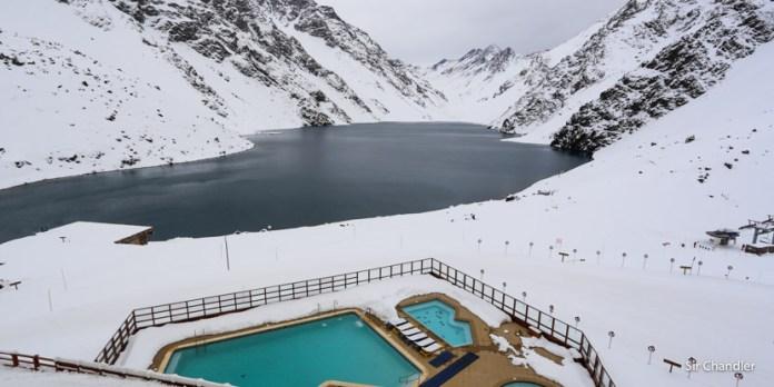 Esquiando en Portillo