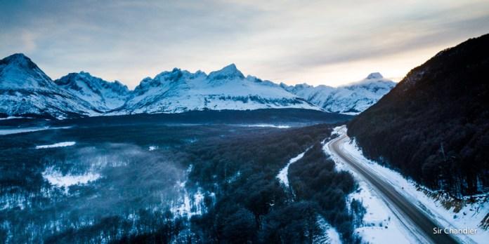 Volando un poco por Tierra del Fuego (con el dron)