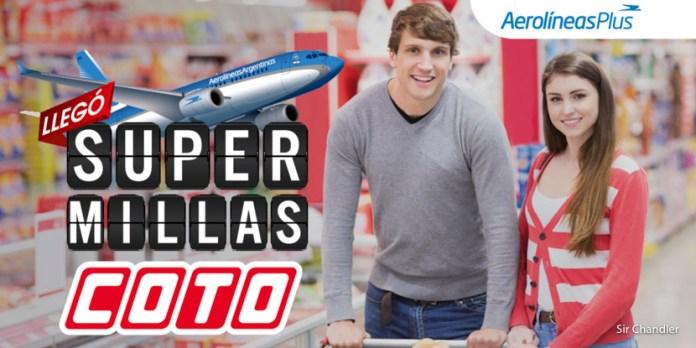 Arrancó la alianza entre COTO y Aerolíneas Argentinas para sumar millas ARPLUS