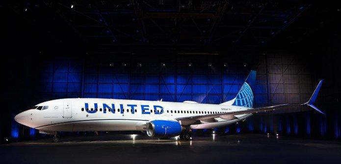United cambió el diseño en la pintura de sus aviones