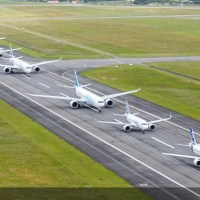 El hermoso vuelo en formación de los aviones de Airbus por sus 50 años