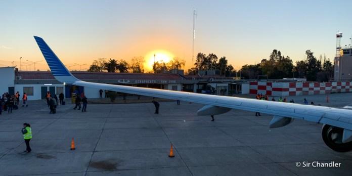 El vuelo del eclipse rumbo a San Juan – crónica
