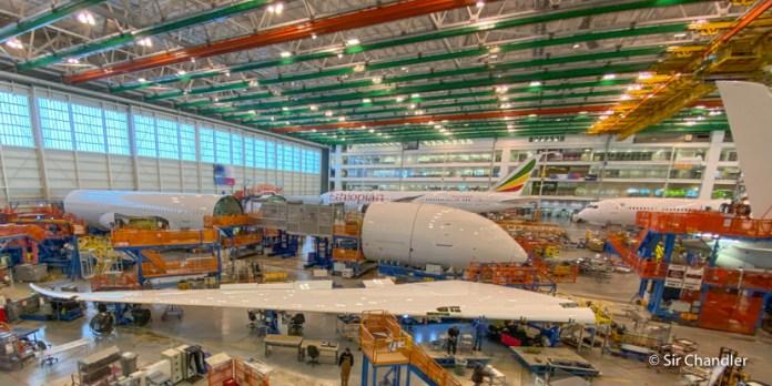 La fábrica de Boeing 787 en Charleston
