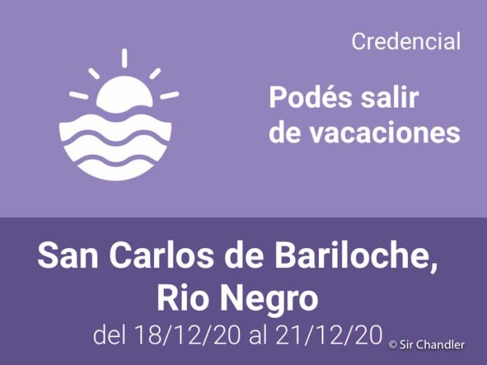 Tramitar el permiso para ir a Bariloche (y aplicable a otros casos)
