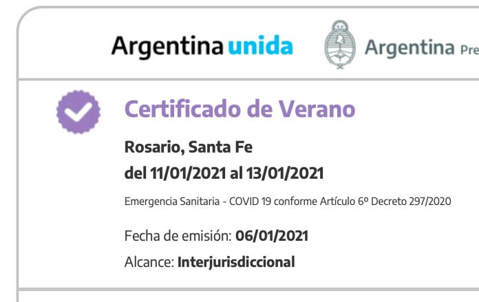 ¿Qué pasará con el certificado VERANO cuando llegue el otoño?