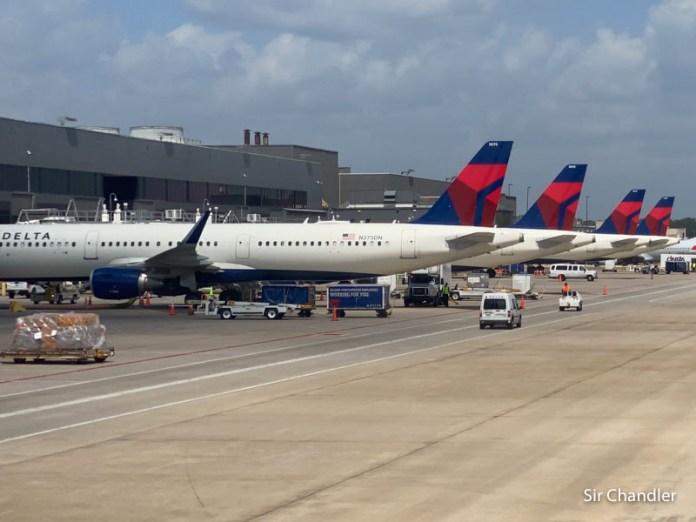 Delta con ocho vuelos en todo junio