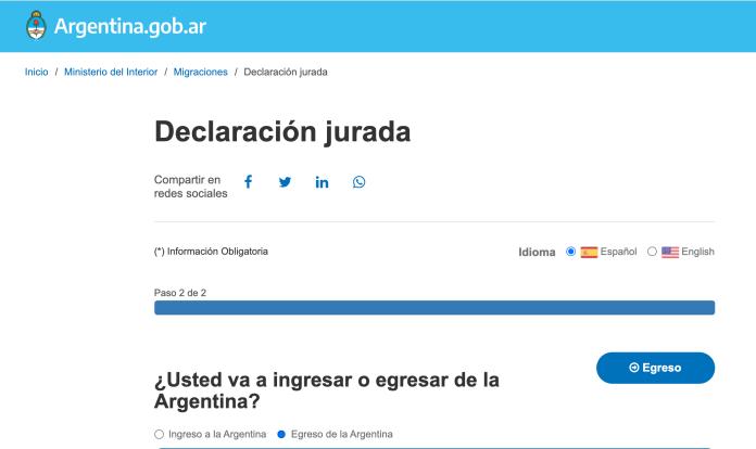 DDJJ de salida del país: nuevos textos sobre testeos y cuarentenas