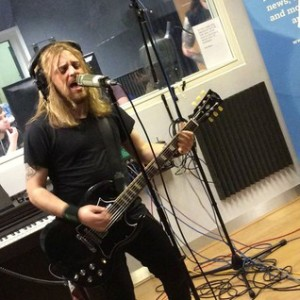 Australian rockers Massive recording their session in the Electric Lounge for The Rock Train