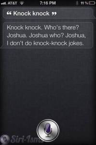 Siri Says Knock Knock...