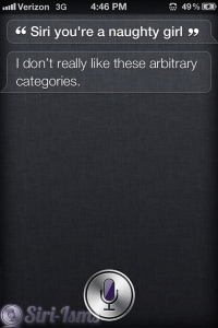 Siri You Are A Naughty Girl ~ Siri Quotes