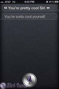 You're Pretty Cool Siri - Siri Quotes