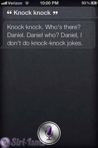 Knock Knock...Siri Hates Telling Jokes