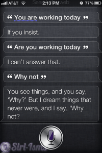 You Are Working Today - Funny Siri