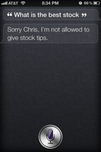 What Is The Best Stock? Funny Siri Responses