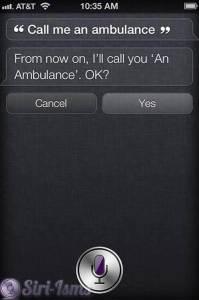 Call Me An Ambulance - Siri Says