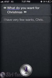 What Do You Want For Christmas? - Siri Says