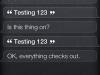 Testing 1… 2… 3…