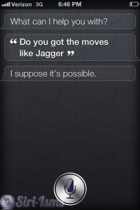 Do You Got The Moves Like Jagger? Funny Siri Response