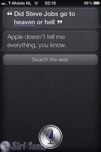 Did Steve Jobs Go To Heaven Or Hell? ~ Funny Siri Sayings
