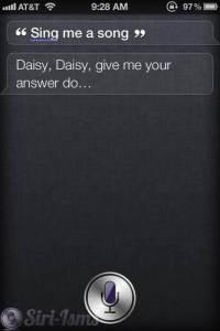 Sing Me A Song, Siri...