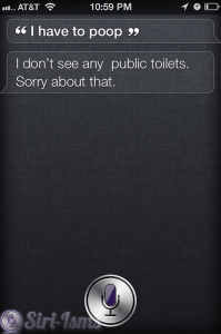 I Have To Poop- Siri Message