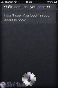 Siri Can I Call You Cock? - Siri Says