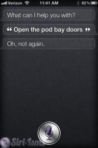 Funny Siri: Open The Pod Bay Doors Hal