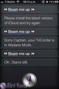 Beam Me Up! - Siri Does Star Trek!