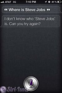 Where Is Steve Jobs? - Siri does Not Know