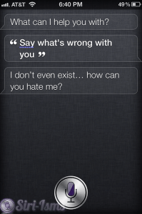 Say What's Wrong With You? - Siri Says