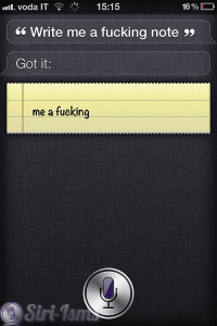 Write Me A Fucking Note - Funny Siri Sayings