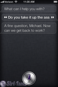 Do You Take It Up The Ass? - Siri Talks Sex