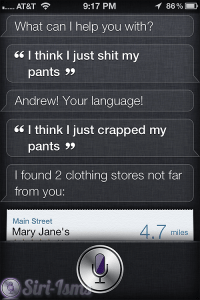 I Think I Just Shit My Pants- Siri Says