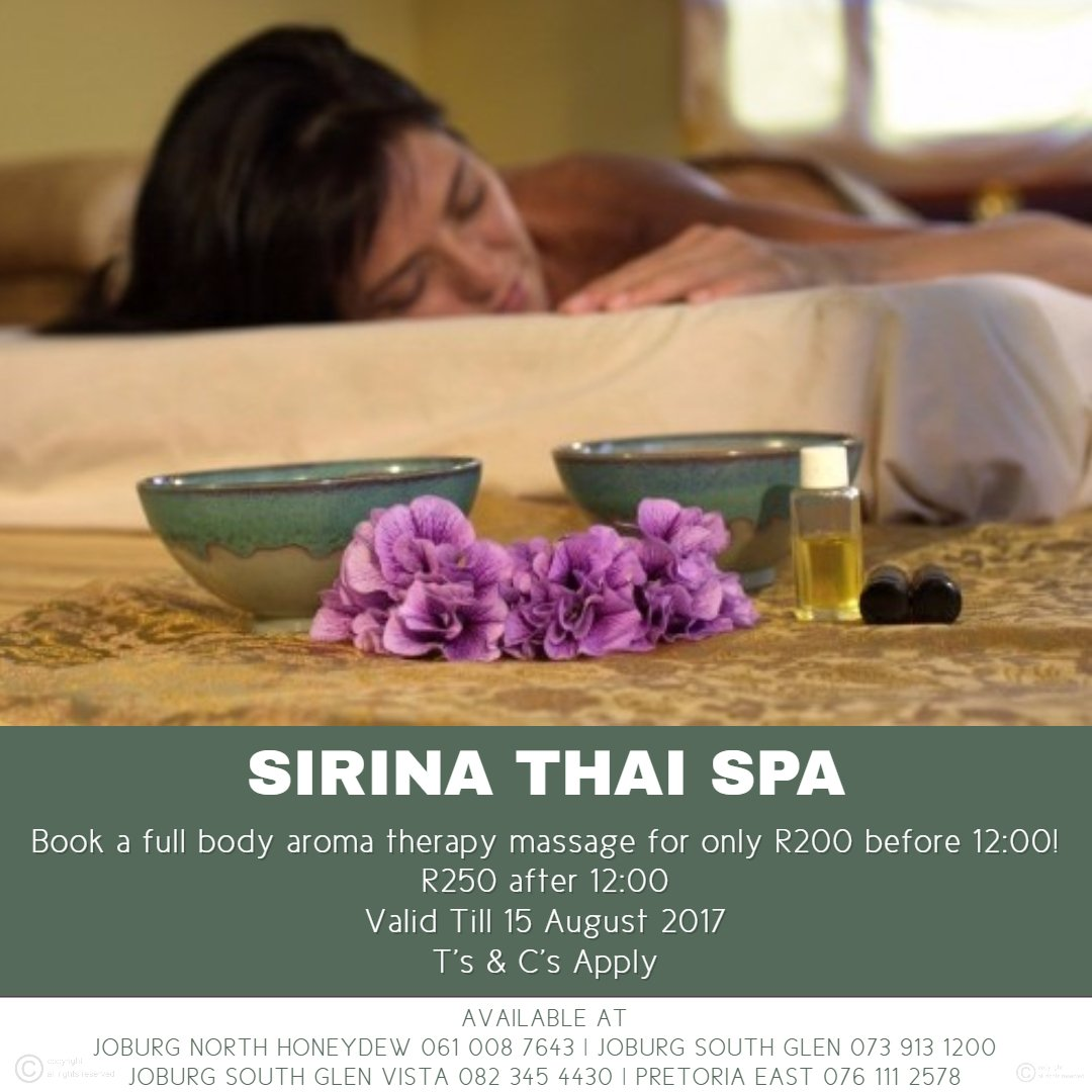Sirina Thai Spa South Africa