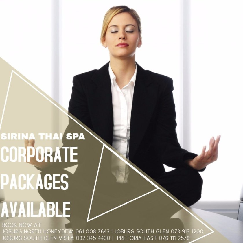 SIRINA THAI SPA CORPORATE PACKAGES