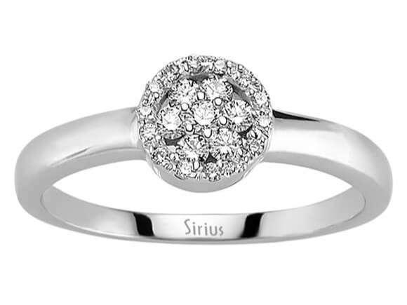 Weissgold Diamantring Diamant Ring