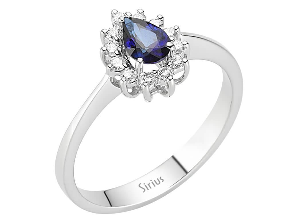 Entrouge Saphir Diamant Ring Diamantring 14 Karat Gold 14
