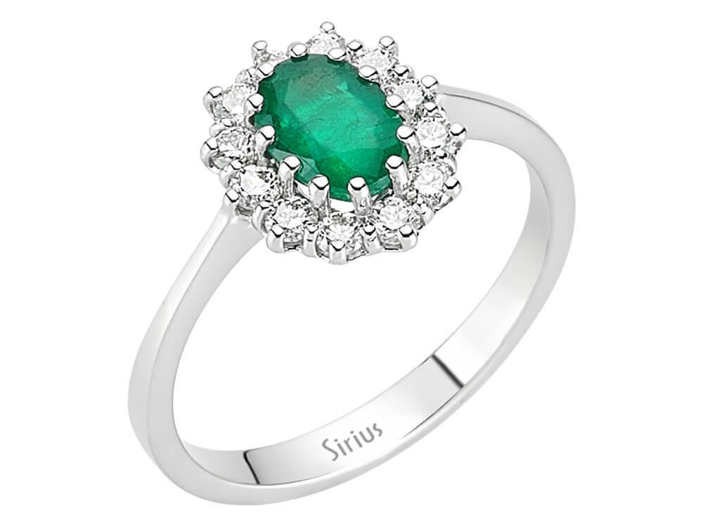 Entrouge Smaragd Diamant Ring Diamantring 14 Karat