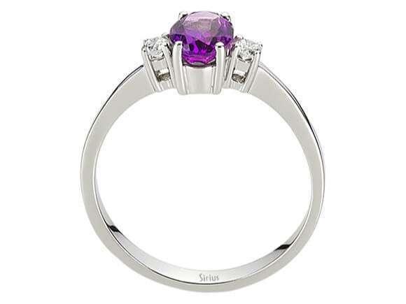 Amethyst Diamant Ring Diamantring Weissgold 14 Karat