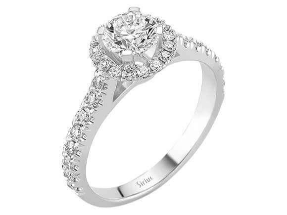 1 Karat Design Diamant Solitr Ring Diamantring Weissgold