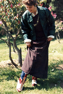 Author in Bhutanese Dress