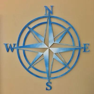 nautical star blue white