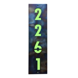 address sign vertical with backplate