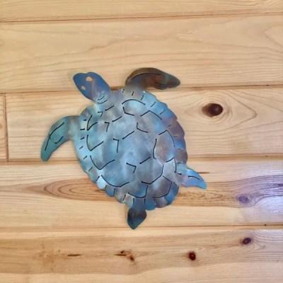turtle patina wood wall