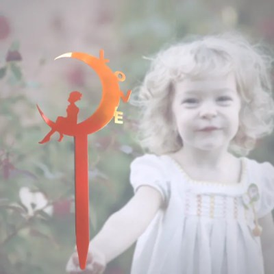 garden fairy love orange girl