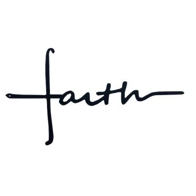 metal faith cross horizontal