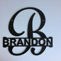 monogram split letter script
