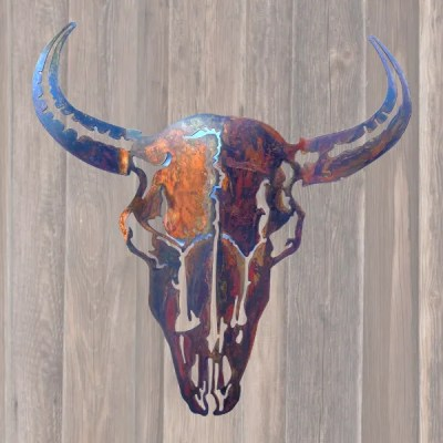 buffalo wall art with patina