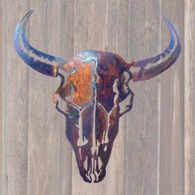 custom metal home decor buffalo wall art with patina